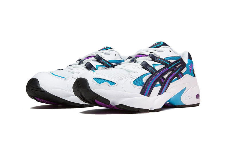 asics gel kayano 5 og sneaker teal purple white release