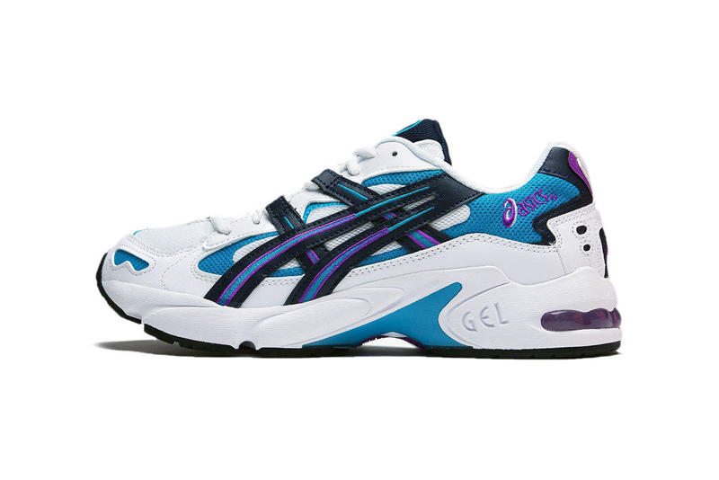 best website 50b8d bb51f asics gel kayano 5 og sneaker teal purple white release