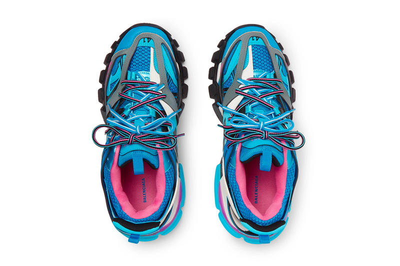 Balenciaga Blue Pink Track Sneaker Release