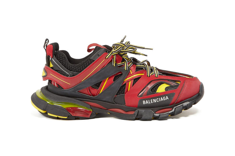 be61699cb5e2 Balenciaga Track Sneakers in Red Black Yellow matchesfashion.com ss19  spring summer 2019
