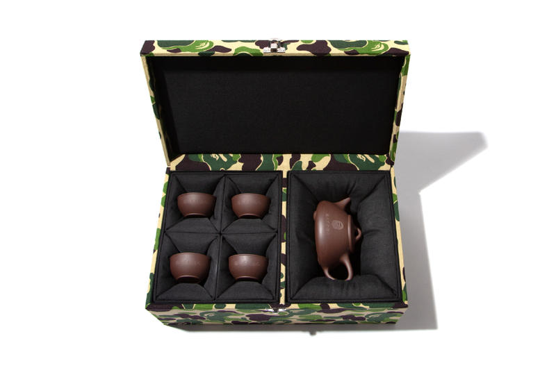 BAPE Limited Edition Chinese Tea Pot Set a bathing ape chinese new year abc camo 1st camo ape head hong kong nigo baby milo camo box
