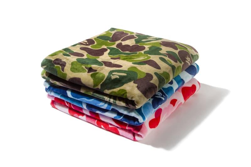 BAPE ABC CAMO Blankets VIP Gift a bathing ape pink blue green baby milo nigo