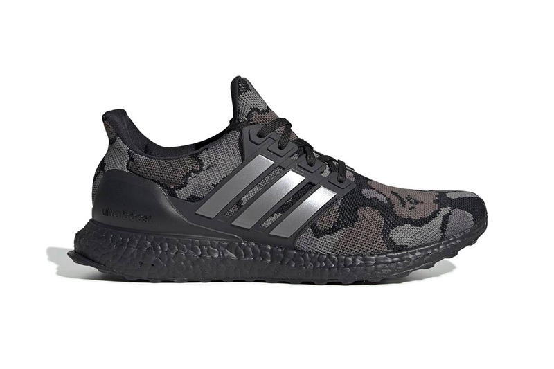 BAPE x adidas UltraBOOST Official Look a bathing ape sneaker football nfl super bowl LIII green black camo 1st camo