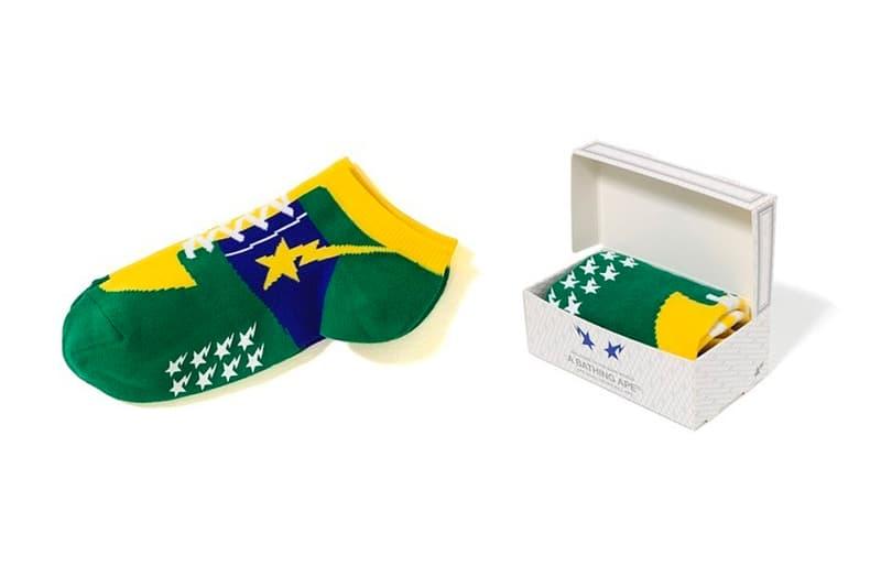 new style d7061 7ec39 BAPE BAPE STA Socks Release a bathing ape green yellow blue a sta motif  sneakers