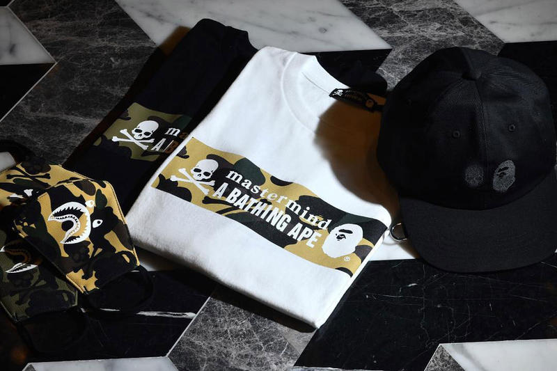 bape mastermind world japan vs spring summer 2019 capsule collection collaboration tee shirts hat mask camouflage release date