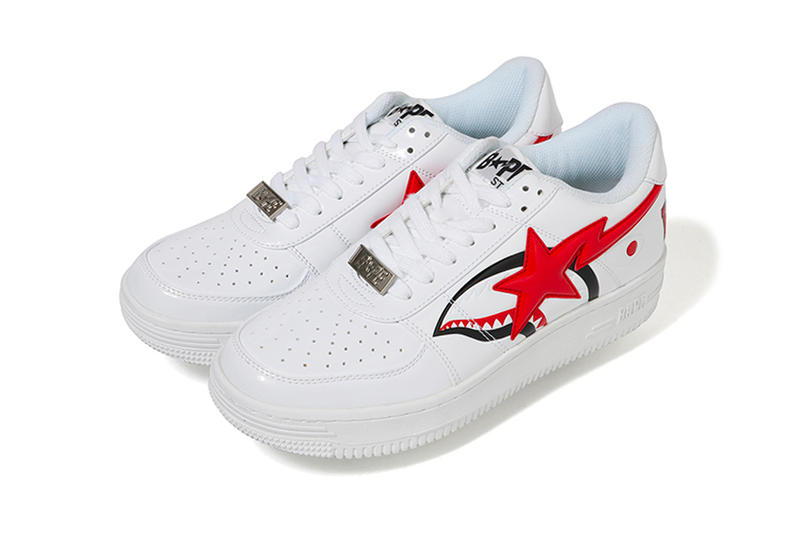 BAPE Shark BAPESTA Low Release sneakers a bathing ape japan nigo baby milo white black red sta