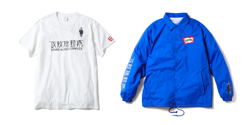ICECREAM Billionaire Boys Club Ghost in the Shell Stand Alone Complex Capsule Anime white black blue t shirt hoodie coach jacket