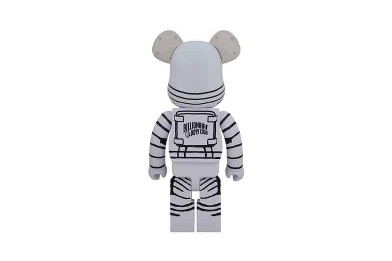 billionaire boys club white astronaut bearbrick collectible figure