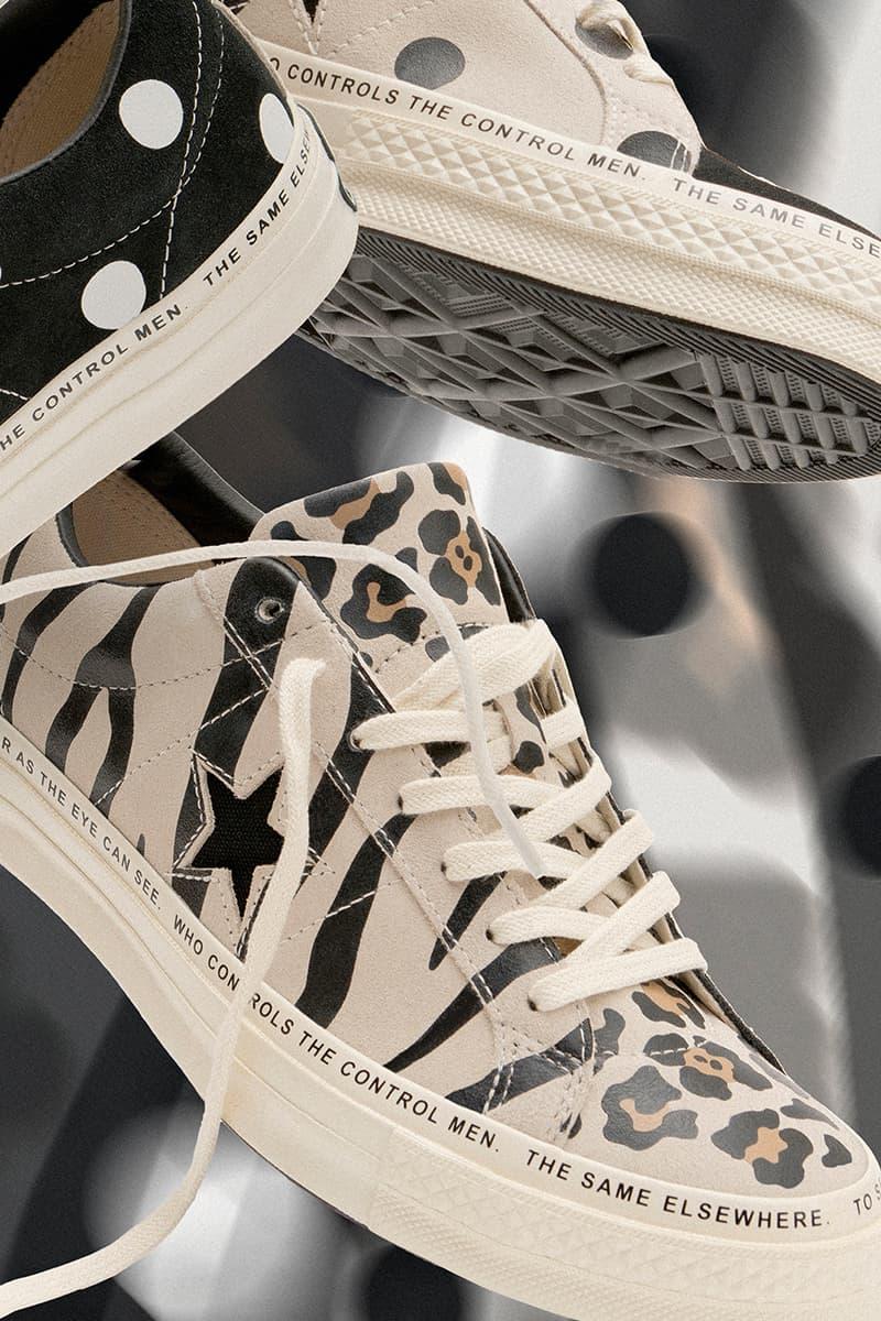 Brain Dead x Converse One Star Spring/Summer 2019 First Look Release Details Animal Print Zebra Polka Dot Cheetah Leopard First Look