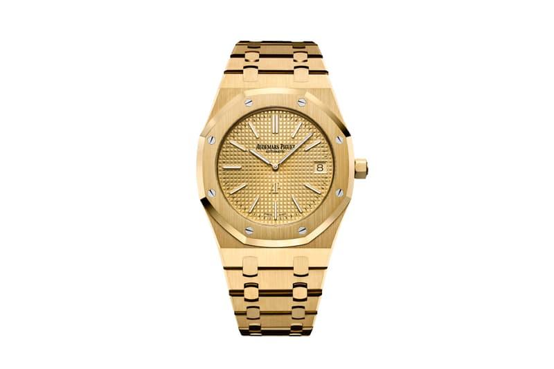 Bruno Mars Hooligans Gold Audemars Piguet Extra Thin Jumbo Royal Oak Gift gold watches swiss made luxury premium gerald genta