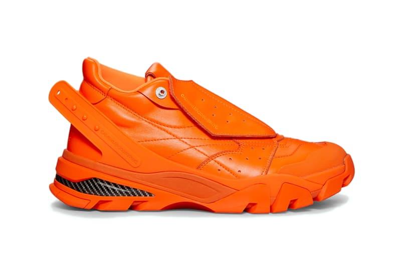 CALVIN KLEIN 205W39NYC Cander 7 Orange Nappa leather runner sneaker shoe raf simons design release date info drop