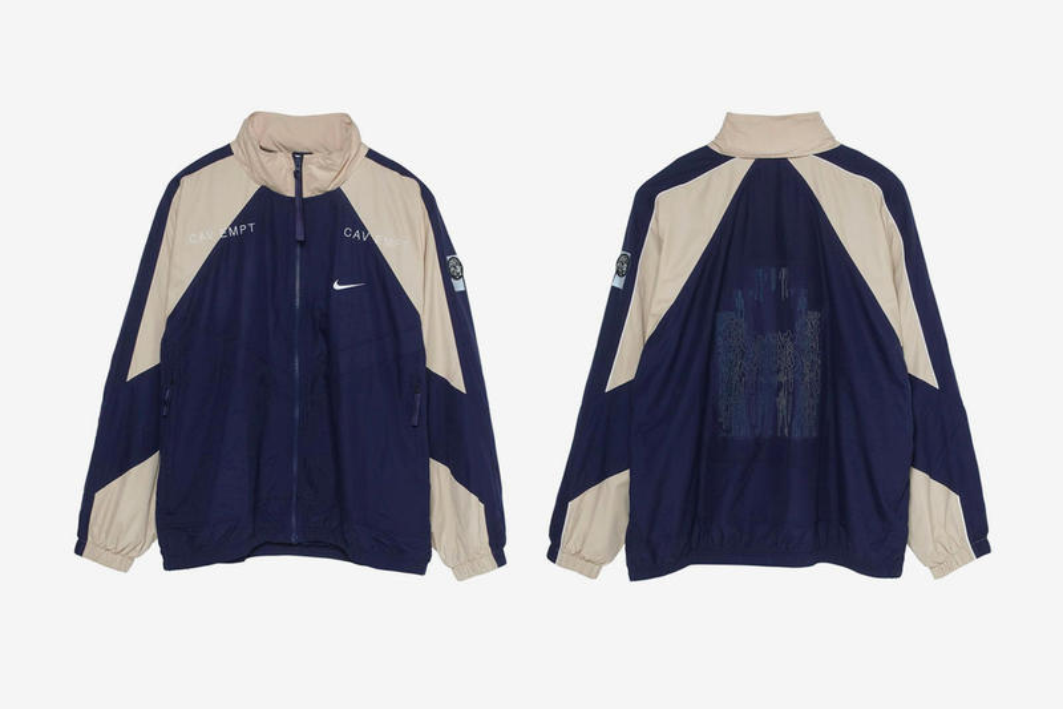 Cav Empt Nike Capsule Full Look Sk8thing Toby Feltwell Air Max 95 track suit jersey cap vest White Black Blue Beige
