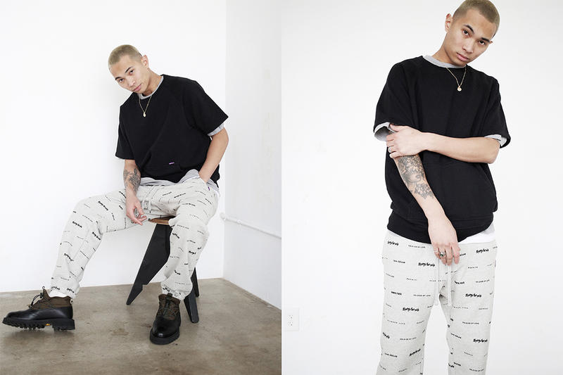 "Commonwealth Spring/Summer 2019 Lookbook made in the usa pin stripe pants stretch twill pants 500 gram usa milled fleece belts made in jamaica bruce lee malcolm x sade Commonwealth x adidas consortium ""FNF"""