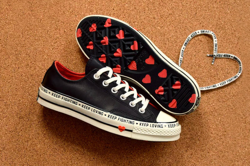 5cf57027c5f8 Converse Celebrates Valentine s Day With Heart-Filled Chuck 70 Low black  white red orange cream