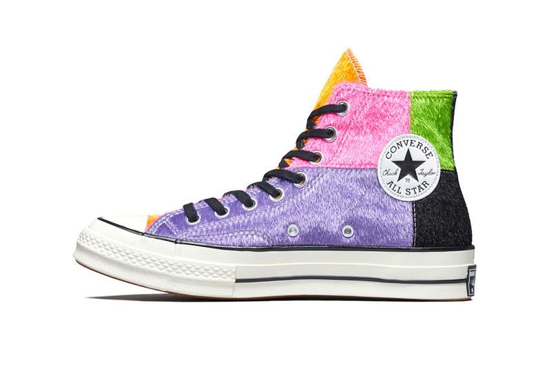 Converse Chuck 70 Multicolor Pony Hair release info drop date pricing stockists stockist retailer patchwork white/black midsole hi-top synthetic fur
