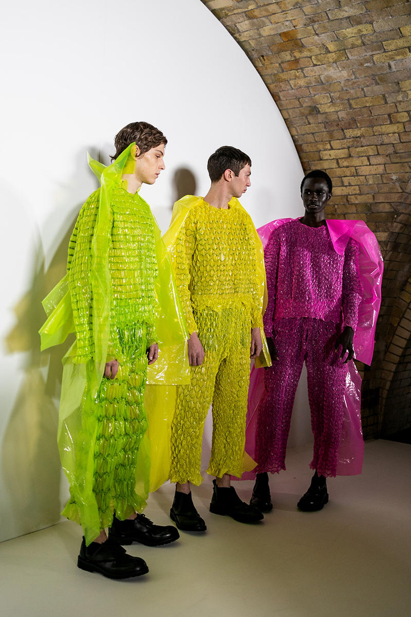 Craig Green LFWM London Fashion Week Men's Fall/Winter 2019 Backstage Look First Closer