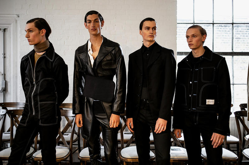 Daniel W. Fletcher Fall/Winter 2019 Backstage LFW:M London Fashion Week: Men's Jon Bulmer