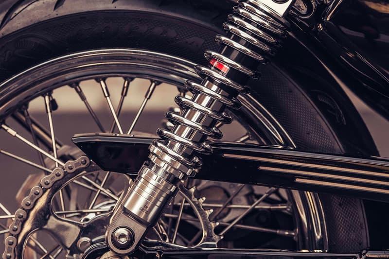 "Deus Ex Machine XV-Twin 1200 Motorcycle deus ex customs xl 1200c harley davidson Bassani ""fuelpack"" Vance & Hines Kustom tech levers Motone Customs Motogadget speedo color fuel release info price bike autobike"