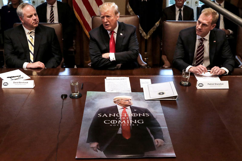 Donald Trump Debuts Game of Thrones-Themed Poster cabinet meeting got got hbo sanctions are coming november 4 meme