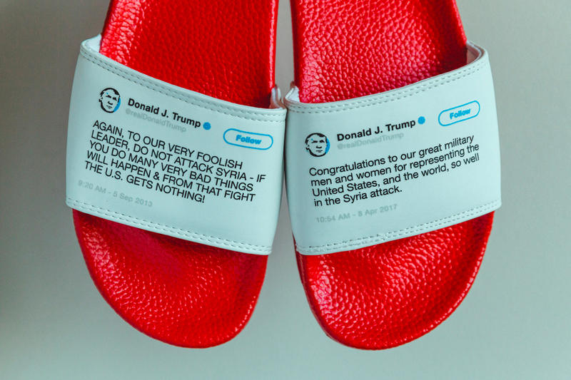 Donald Trump Tweets Have Been Turned Into Slides sold out president President Flip Flops