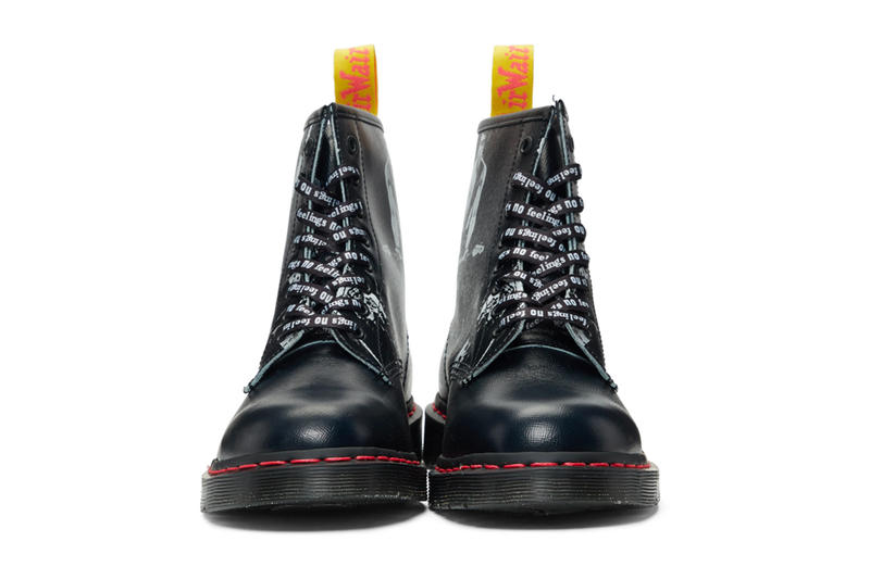 Dr. Martens x Sex Pistols Footwear Collaboration 1925 derbys 1490 boots 1460 boots pressler sneakers punk rock hardcore sid vicious shoes sneakers price release info date SSENSE