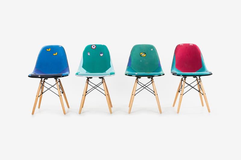 Dr. Romanelli x Modernica Vintage Sweatshirt Chairs patchwork home furniture