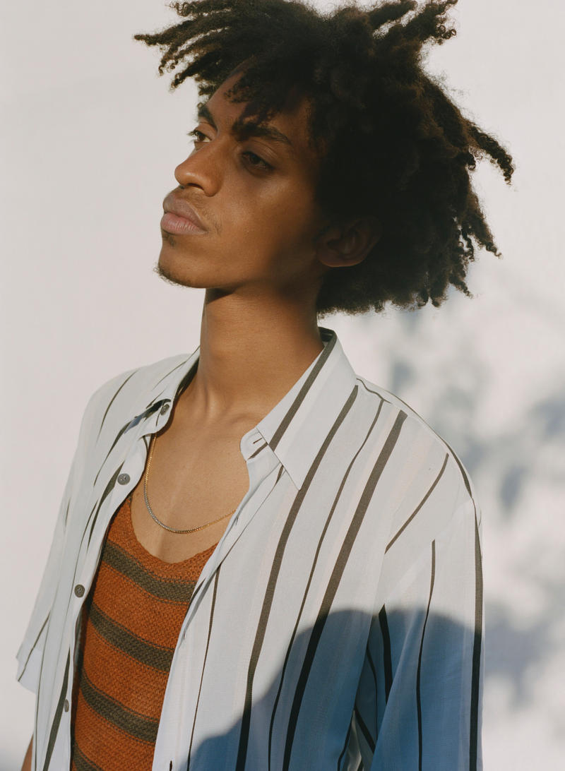 SSENSE Launches Dries Van Noten's SS19 Collection with Shaniqwa Jarvis's Shots info price release images ready to wear footwear spring summer 2019 shirt crewneck tank pants