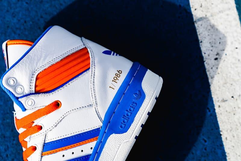 Eric Emanuel x adidas New York Rivalry A Closer Look New York Knicks basketball NBA Patrick Ewing sneakers kicks shoes footwear adidas