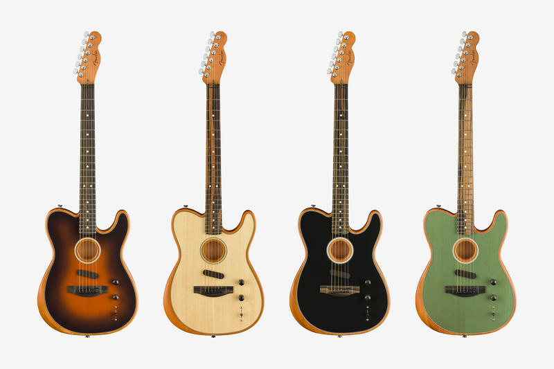 Fender Acoustasonic Telecaster Guitar musuc instruments wood acoustic electric california usa made fishman