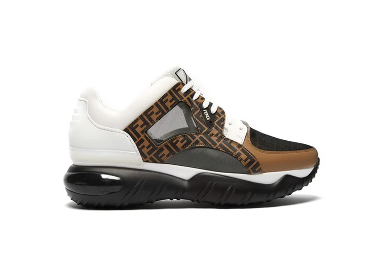 2d45b552 Fendi Releases a Chunky Low-Top Leather and Mesh Sneaker