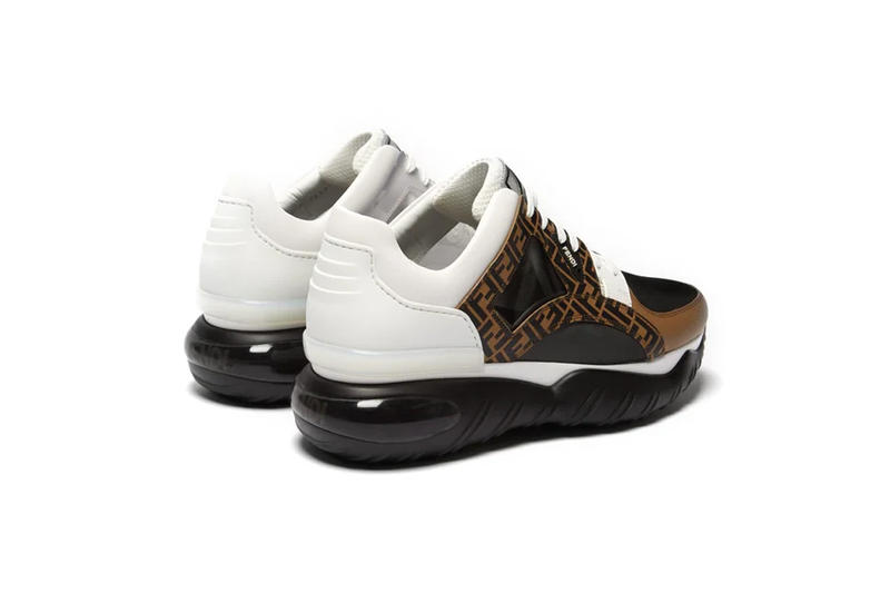 Fendi Chunky Low Top- Leather And Mesh Sneaker Release  fashion sneakers shoes For Sale Information Matchesfashion To Buy