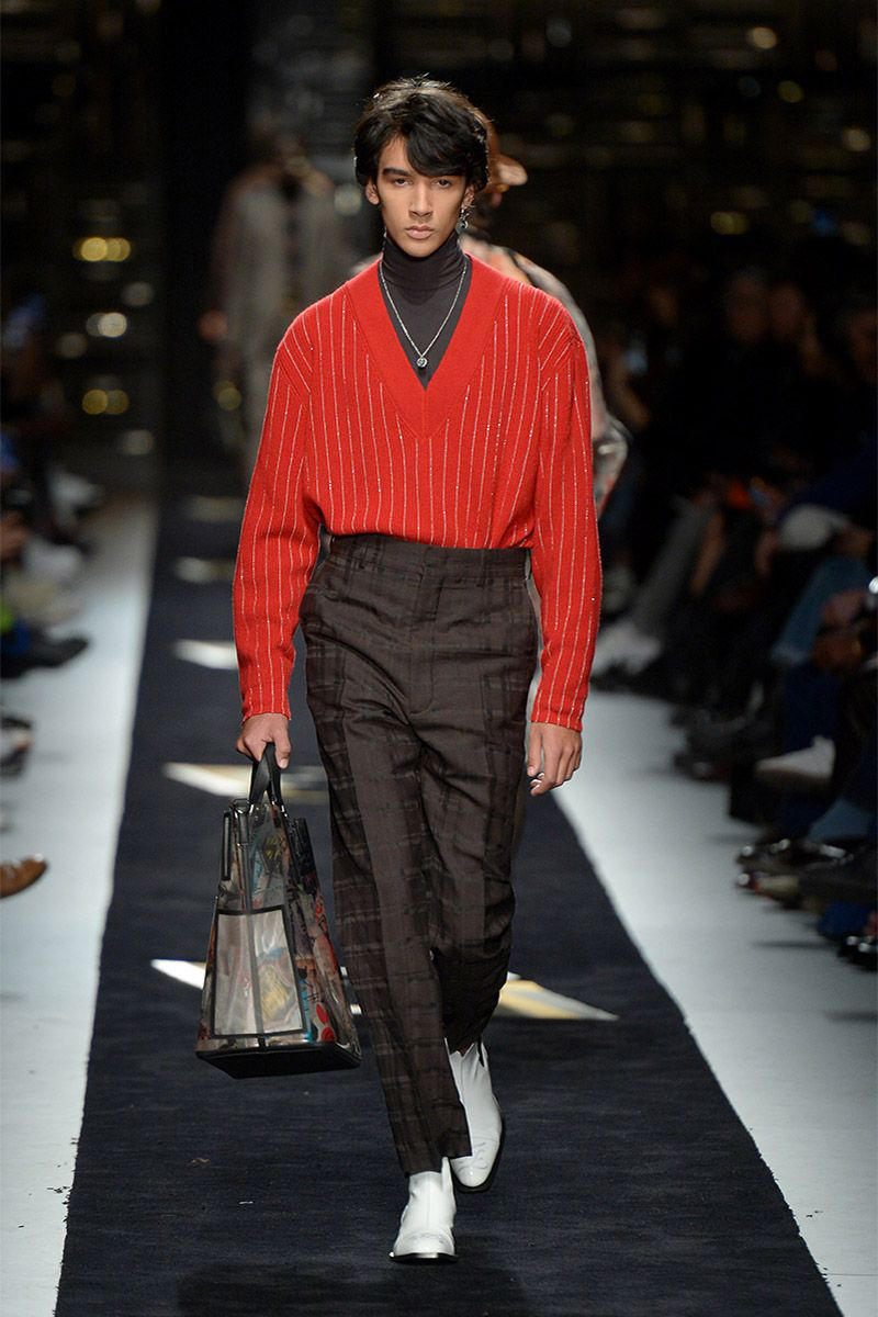 Fendi fall winter 2019 runway menswear collection presentation milan fashion week show Silvia Venturini karl lagerfeld