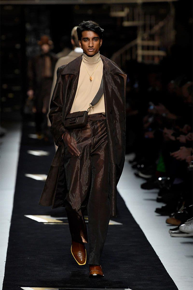Fendi fall winter 2019 runway menswear collection presentation milan fashion week show Silvia Venturini karl lagerfeld