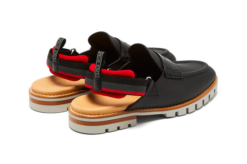 Fendi Leather Loafer Sandals footwear leather Italian shoes outdoors hybrid flip flops red leather boots