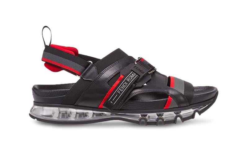 Fendi TPU Sandal Black Red leather Release info Date farfetch