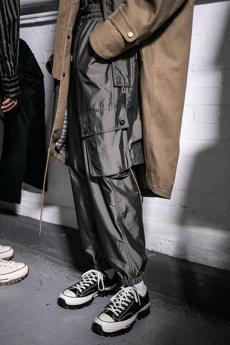Feng Chen Wang Fall/Winter 2019 LFW:M Backstage Converse Collaboration London Fashion Week: Men's FW19 Autumn/Winter 2019