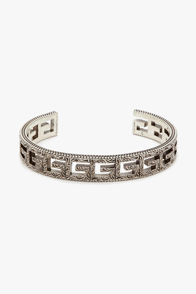 G Motif Sterling Silver Necklace Bracelet Release info Cross Square Antique Alessandro Michele Rings