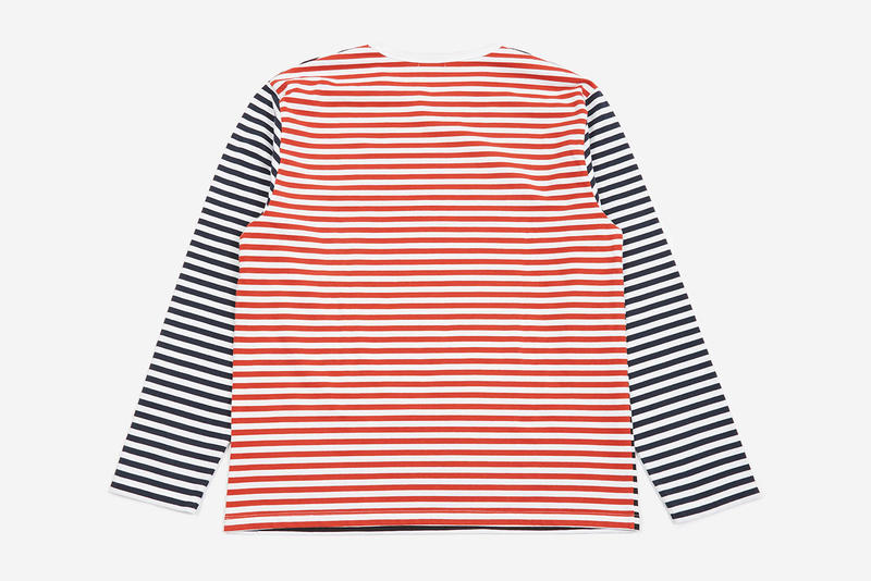 nanamica coolmax goodhood collaboration exclusive tee shirt spring summer 2019 japan fabric stripe crazy pattern