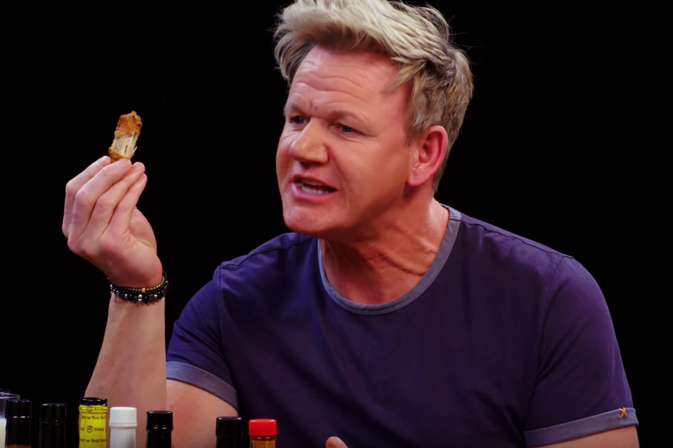 Gordon Ramsay Hot Ones Episode Hypebeast Brought out the donuts.and then whipped out the citrus. gordon ramsay hot ones episode