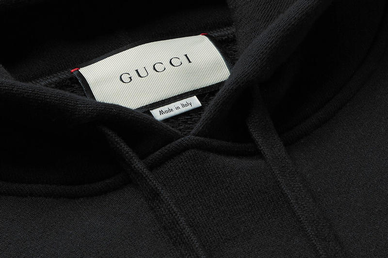 Gucci Holographic Logo-Print Hoodie made in italy cotton mid-weight loopback cotton jersey mr porter