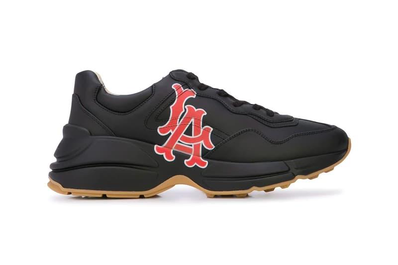 36db5eee496 Gucci Los Angeles Angels Sneakers farfetch MLB Baseball sports Italian luxe shoes  sneakers footwear