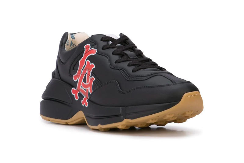 Gucci Los Angeles Angels Sneakers farfetch MLB Baseball sports Italian luxe shoes sneakers footwear