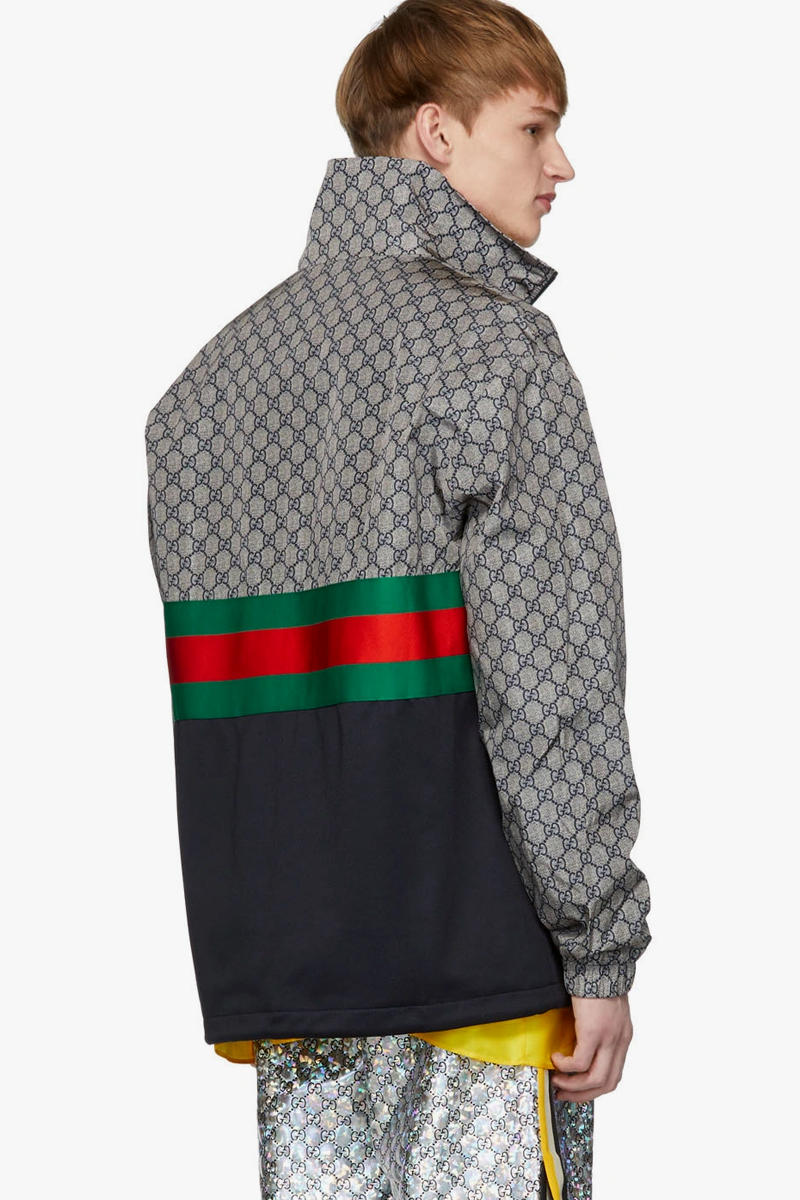 Gucci Multicolor Oversized Technical Track Jacket Release Info Date GG red green Ssense