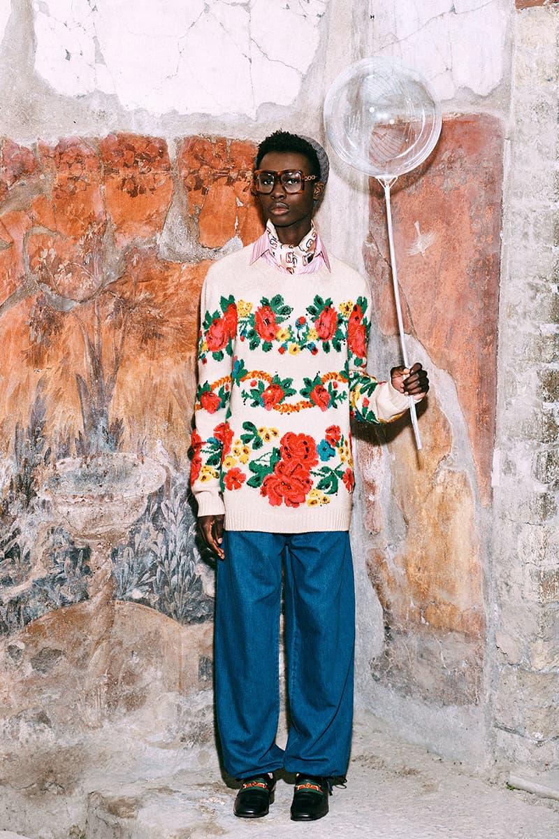 Gucci Pre Fall 2019 Collection Lookbook Harmony Korine Archaeological Park of Pompeii Herculaneum Mr Peanut The Face Harmony Korine