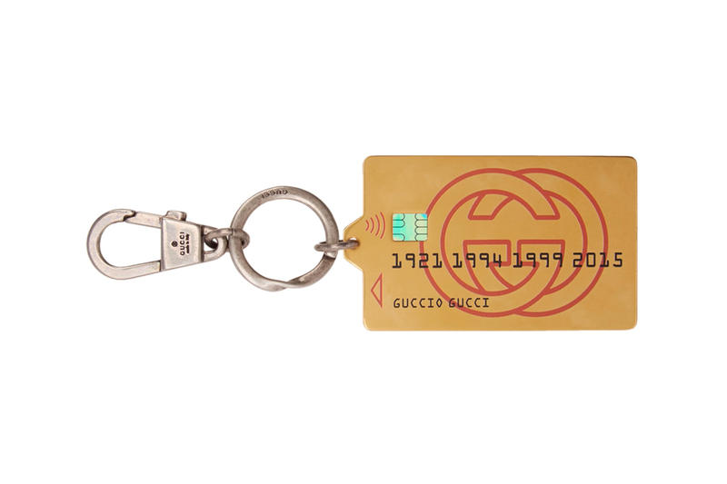 Gucci Silver & Gold Credit Card Keychain Release Info Date Accessories SSENSE DE L'AMOUR