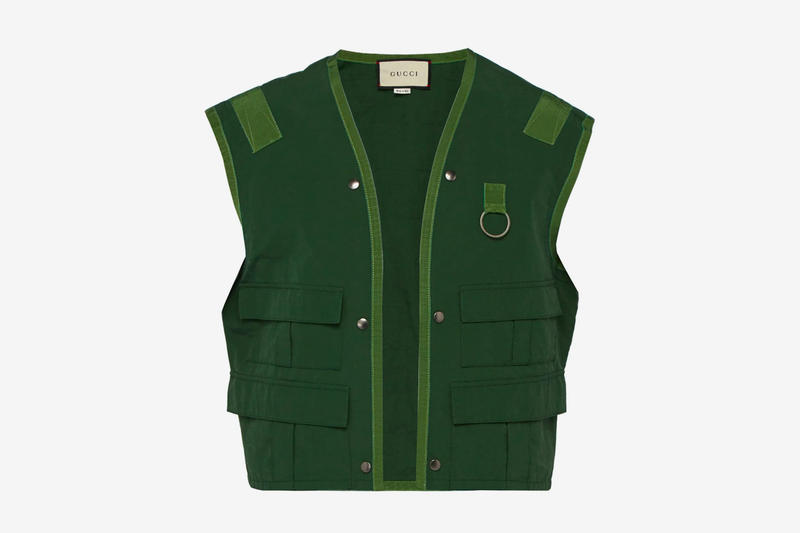 95a5c36ebd0 Gucci Sleeveless Cotton Blend Fishing Vest