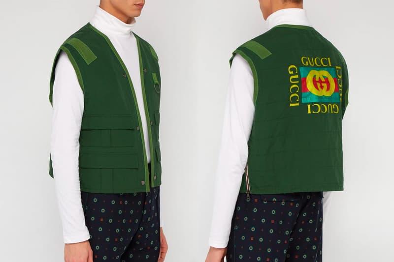 Gucci Sleeveless Cotton Blend Fishing Vest