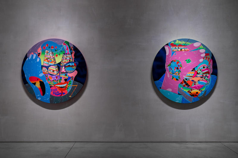 erik parker new soul exhibition mary boone gallery new york city recap artworks tondos paintings