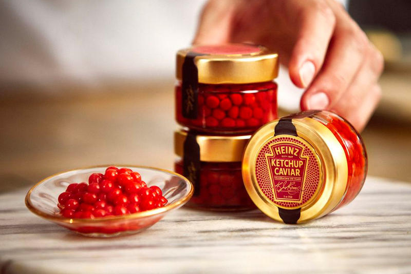 Heinz Ketchup Caviar Info Valentine's Day Valen-HEINZ day food snacks caviar condiments