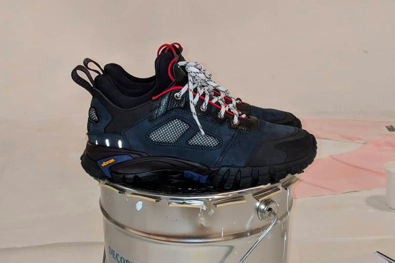 Heron Preston First Ever Sneaker Teaser Blue Black Vibram shoe СТИЛЬ cyrillic